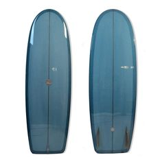 Driftwood Caravan 5'10 Mini Simmons with Steel Blue Resin Tint and Gloss Polish Finish