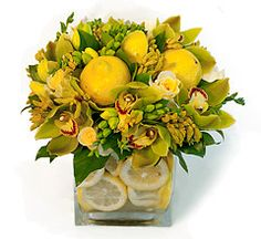 Flowers lemon for the kitchen table or countertop