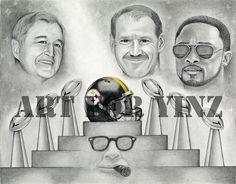 Chuck Knoll, Bill Cowher, Mike Tomlin & Art Rooney