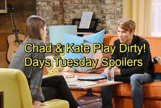 Days of Our Lives Spoilers: Chad and Kate Play Dirty – Lani Poisoned by Snake – Tripp Suspects Ava Murder Coverup – Celeb Dirty Laundry