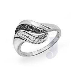 Jpearls Baguetti Black Diamond Ring