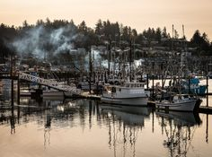This is a photo of one of the port docks in Yaquina Bay, Newport, OR, USA. I live here in Newport and oftentimes on my way to work, I stop and take photos.