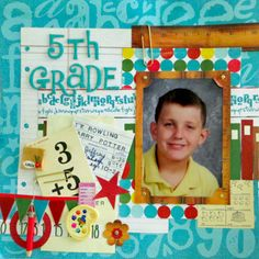 Layout: 5th Grade featuring Quick Quotes Pattern paper line