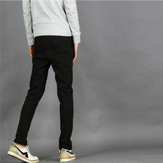 Mid-rise Cotton Casual Trousers