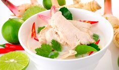 Tom Kha Kai (Thai Chicken Galangal and Coconut Milk Soup) - One of the tastiest and most popular Thai dishes