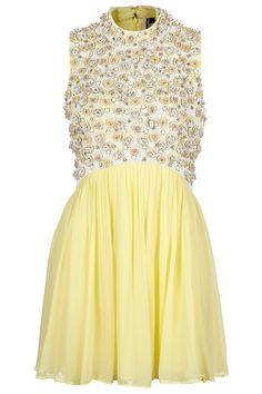 **LIMITED EDITION Floral Embellished Skater Dress - Dresses - Clothing - Topshop USA