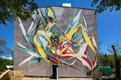 Urban Forms is starting its mural season with Shida and his newest artwork on the streets of Lodz in Poland. Street Art News, Street Artists, Amazing Street Art, Amazing Art, Installation Art, Art Installations, Banksy, Comic Books Art, Urban Art