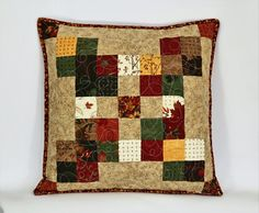 Check out this item in my Etsy shop https://www.etsy.com/ca/listing/466709766/fall-pillow-quilted-pillow-quilted-throw