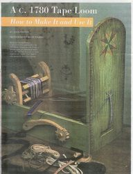 The Secret Tape Loom Article - Heather's Pages (how to make an 18th century tape loom)