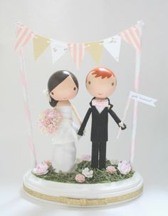 Hey, I found this really awesome Etsy listing at https://www.etsy.com/listing/158924329/custom-wedding-cake-topper-with-bunting
