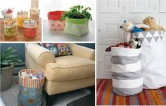 Hace y decorá vos mismo tu cesto laundry - Trapitos.com.ar - Blog Hamper, Screen Printing, Organization, Prints, Diy, Home Decor, Scrappy Quilts, Craft, Sewing Lace