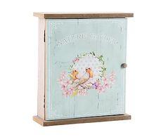 Armario portallaves de madera DM Papillon - azul