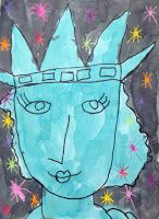 Art Projects for Kids: Lady Liberty Painting. #artprojectsforkids