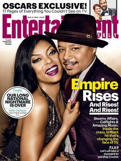 Cookie and Lucious Lyon AKA Taraji P. Henson And Terrence Howard Cover Entertainment Weekly Magazine Serie Empire, Empire Cast, Empire Fox, Empire State, Lucious Lyon, Hip Hop, Taraji P Henson, Jussie Smollett, Kelly Clarkson
