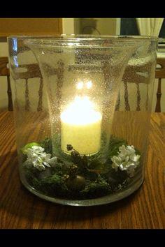 Majesteettisen valon sisälle on laitettu Puutarhakeidas-hurricanen lasiosa.