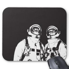 Astronaut Cats Mouse Pad Check out this #mousepad Personalize it and make it your own. #office #officesupplies