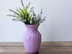 Vase / lilac Vase  / light Purple Home Decor / purple housewares / home and garden on Etsy, $21.00