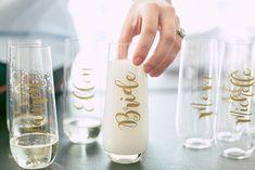 Park Tavern Wedding in Atlanta, GA :: Bridesmaids Gift Ideas :: Champagne Classes for Bridal Party