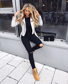 1873c36d4b3e Image result for timbs womens outfits