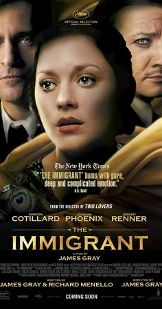 The Immigrant 2013 Friday Night to see Set in 1921 unfortunate circumstances drive newly arrived immigrant Ewa into a life of prostitution and a complex volatile relation. Beau Film, Movies And Series, Movies And Tv Shows, Film Movie, Music Film, Period Drama Movies, Period Dramas, Netflix Movies, Chick Flicks