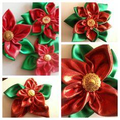 Handmade Poinsettias by Ali Bee Creations
