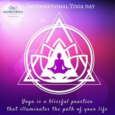 """Derived from the Sanskrit word """"yuj"""", #Yoga means union of the individual consciousness or soul with the Universal Consciousness or Spirit. Yoga is a 5000-year-old Indian body of knowledge.   Yoga is not just exercise and asanas. It is the emotional integration and spiritual elevation with a touch of mystic element, which gives you a glimpse of something beyond all imagination.  Have a blissful International Yoga Day  #Yoga #Meditation #YogaDay #InternationalYogaDay #Vrindavan…"""