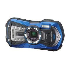 RICOH Waterproof digital camera RICOH WG-40 Blue waterproof 14m Withstand shock 1.6m Cold -10 degrees RICOH WG-40W BL 04693. Effective pixels: about 16 million pixels / 5x optical / digital zoom about 7.2 times / intelligent zoom up to about 36 times / recording medium: Built-in memory (about 68MB) / SD / SDHC / SDXC memory card / Eye-Fi card (WG- 40 only). Power: lithium-ion battery D-LI 92, AC adapter kit K-AC117J (sold separately). Shape and dimensions: about 122.5 (width) × 61.5…