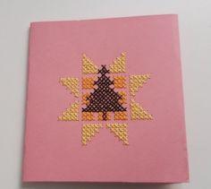 Kreuzstichkarte Weihnachtsbaum Christmas Tree, Hand Crafts, Crosses, Paper Board