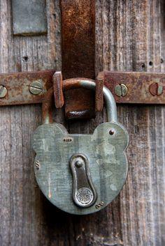 rusty old lock