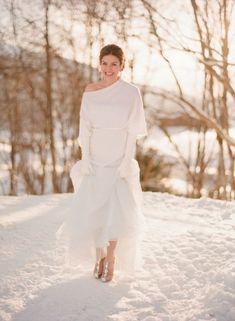 Winter Bride in Le Spose di Gio Gown