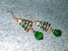 Tutorial Christmas tree earrings - How to make wire jewelery