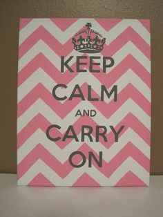 Keep Calm and Carry On Canvas Painting. $28.00, via Etsy.