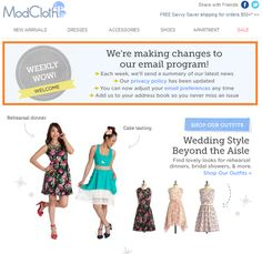 Ejemplo Email Marketing Modcloth