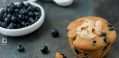 Paleo Blueberry Muffins from www.everydaymaven.com almond and tapioca flour