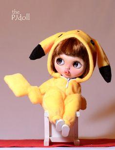 thePJdoll Pikachu girl Custom Blythe Doll/OOAK by ThePJdoll