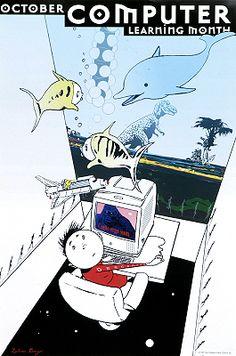 October: Computer Learning Month / Istvan Banyai (1999)