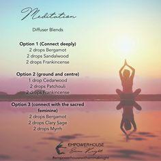 Meditation diffuser blends