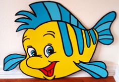 4 ft. Flounder/ The Little Mermaid Decorative Character Prop on Etsy, $50.00