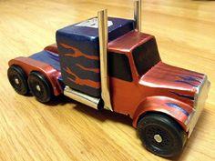 Pinewood Derby semi truck