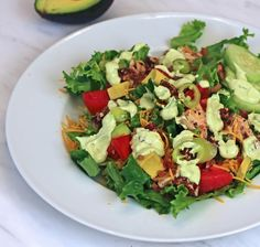 Chicken Recipes : Grilled Chicken Avocado Salad