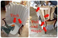 Batchelors: DIY Upholstery- Covering the Chairs ! Pt 1
