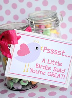 could totally recreate bird with cricut! Free Printable Valentine's Cards