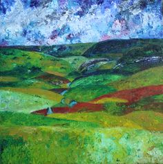 'Scene by the Brook,' inspired by Beethoven's 6th Symphony (Pastoral). Oil on canvas.