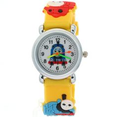 TimerMall Cartoon Black Rubber Quartz Kids Watches THOMAS & FRIENDS Pattern. TimerMall OEM Cartoon Watches funky cartoon style watches with its cute styled character. Clear standard numbers and bright colours make this watch appealing and attention grabbing.