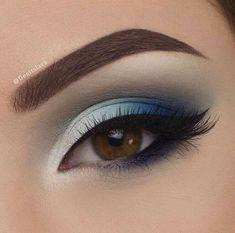 Make Up; Make Up Looks; Make Up Augen; Make Up Prom;Make Up Face; Makeup Steps Make - up Makeup Eye Looks, Blue Eye Makeup, Eye Makeup Tips, Smokey Eye Makeup, Cute Makeup, Glam Makeup, Gorgeous Makeup, Makeup Inspo, Makeup Ideas