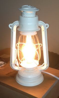 Convert A Kerosene Lantern Into An Electric Lamp Yes