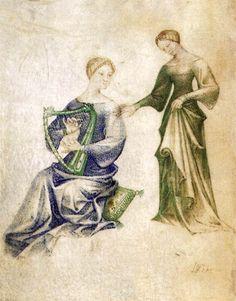 Model Book 1390s Manuscript (Ms. VII. 14), 260 x 185 mm Biblioteca Civica, Bergamo. GRASSI, Giovannino de' Italian miniaturist, Lombard school (b. ca. 1350, Milano, d. 1398, Milano)