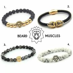 via @beardmuscles: Check out our Lion Bracelet Collection! The lion with his manes stands symbol for the bearded man who never gives up and values hard work! Now free worldwide shipping View the collection at www.beardmuscles.com or click on the link in our bio @beardmuscles