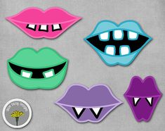 Monster Girly Mouths Lips Photo Props Printable by yamdaisydesigns
