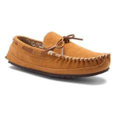 Minnetonka Men's Casey Slipper, Size: 12 M, Beige